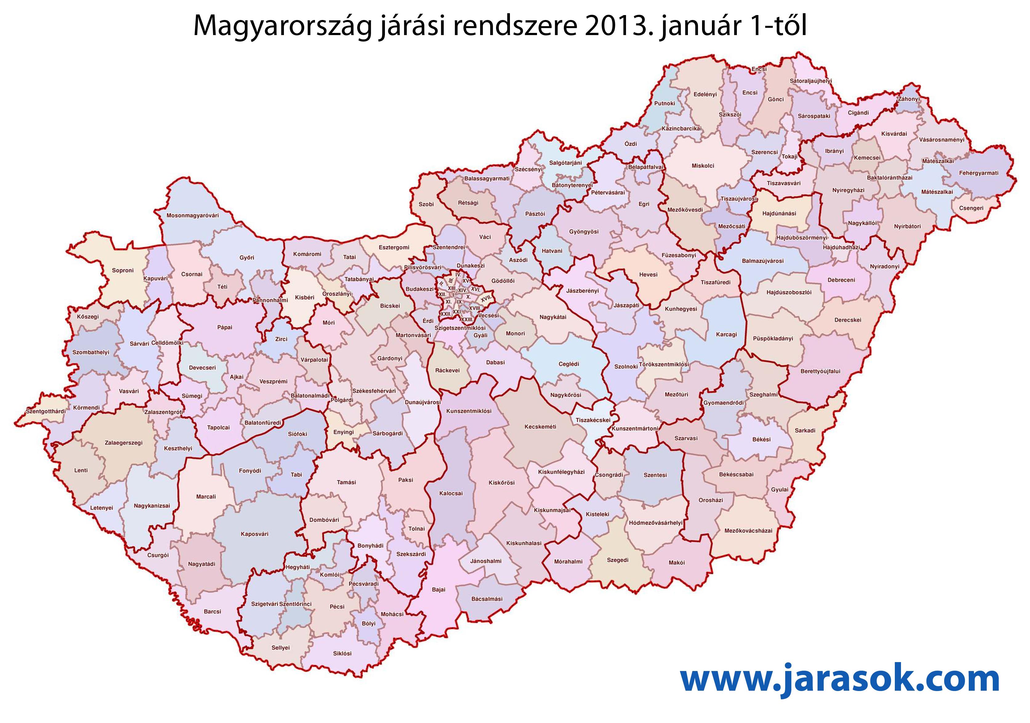 magyarország térkép lenti Hat járás lesz 2013 tól Zala megyében   Kanizsa Újság magyarország térkép lenti