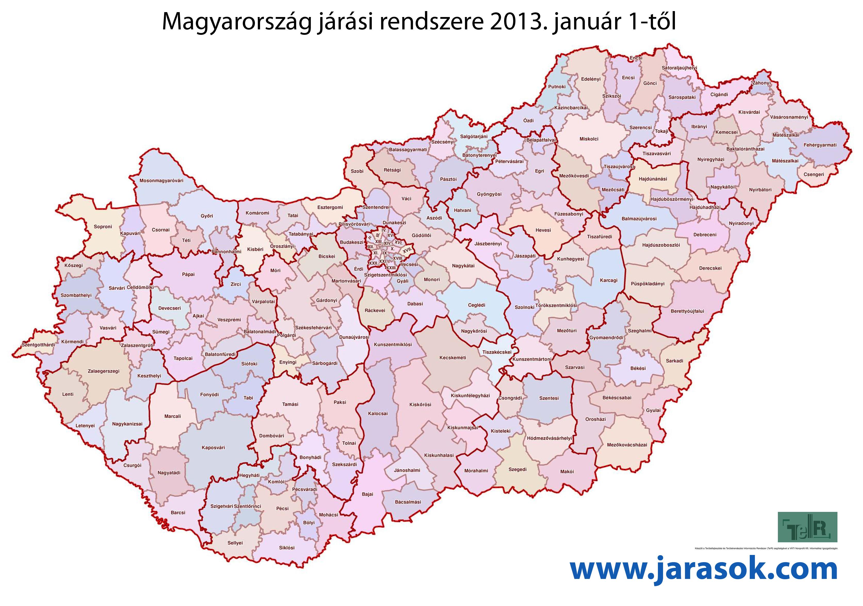 magyarország térkép komárom JÁRÁS TÉRKÉP MAGYARORSZÁG   Magyarország járási térképe   JÁRÁSOK  magyarország térkép komárom